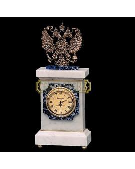 """СЕНТЯБРЕВЪ """"ДЕРЖАВНЫЕ"""" 00327-530 часы настольные, лазурит"""