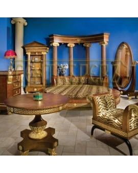 """СЕНТЯБРЕВЪ """"КЛЕОПАТРА"""" мебель для гостиной, класса """"люкс"""", неоклассицизм, золотистая карельская бере"""
