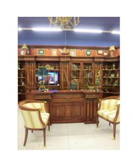 """СЕНТЯБРЕВЪ """"АВРЕЛИЙ"""" мебель для кабинета, класса """"люкс"""", в английском стиле, карельская береза"""